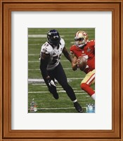 Terrell Suggs Super Bowl XLVII Action Wall Poster