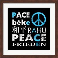 Blue Peace Square I Fine Art Print