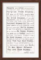 Mother Teresa Quote Fine Art Print