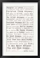 Mother Teresa Quote Fine Art Print
