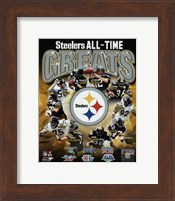 Pittsburgh Steelers All Time Greats Composite Fine Art Print