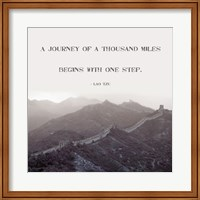 A Journey Of A Thousand Miles Fine Art Print