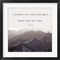 A Journey Of A Thousand Miles Fine Art Print