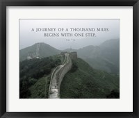 A Journey Of A Thousand Miles Quote Fine Art Print
