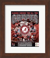 University of Alabama Crimson Tide All Time Greats Composite Fine Art Print