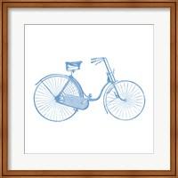 Blue On White Fine Art Print