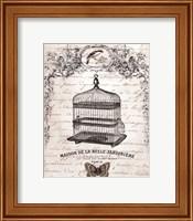 French Birdcage II - mini Fine Art Print