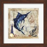 Nautical Swordfish Fine Art Print