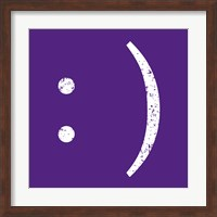 Purple Smiley Fine Art Print