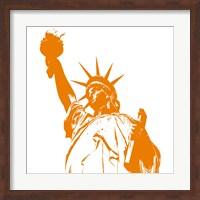 Liberty in Orange Fine Art Print