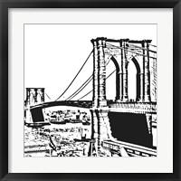 Black Brooklyn Bridge Fine Art Print
