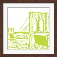 Lime Brooklyn Bridge Fine Art Print