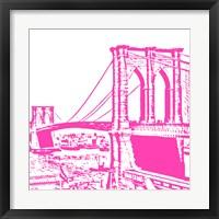 Pink Brooklyn Bridge Fine Art Print