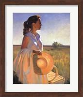 Woman in Garden Fine Art Print