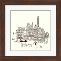 World Cafe III - NYC Red Fine Art Print