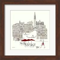 World Cafe IV - Venice Red Fine Art Print