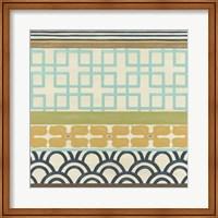 Non-Embellished Geometric Frieze III Fine Art Print