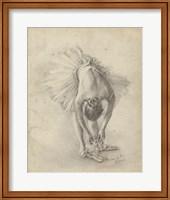 Antique Ballerina Study I Fine Art Print