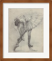Antique Ballerina Study II Fine Art Print