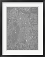 City Map of Boston Fine Art Print