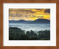 Asheville NC Blue Ridge Mountains Sunset and Fog Landscape Fine Art Print