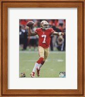 Colin Kaepernick throwing the ball 2013 Fine Art Print