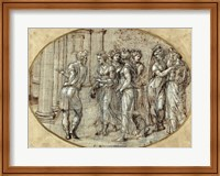 Odysseus and the Daughters of Lycomedes Fine Art Print