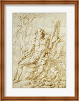 Hercules Resting after Killing the Hydra Fine Art Print