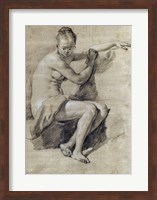 Seated Female Nude Fine Art Print