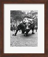 Wall Street Bull Sculpture 1 Fine Art Print