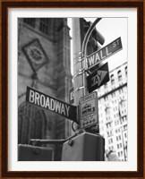 Broadway and Wall Street Fine Art Print