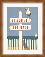Beaches vs. Rat Race Fine Art Print