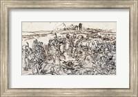 Napoleon at the Battlefield of Eylau Fine Art Print
