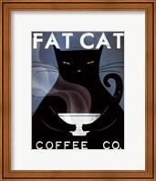 Cat Coffee no City Fine Art Print