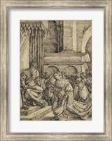 Esther before Ahasuerus - drawing Fine Art Print