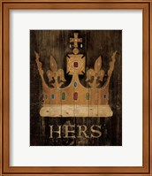Her Majesty's Crown with word Fine Art Print