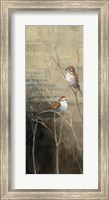 Sparrows at Dusk II Fine Art Print