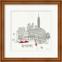 World Cafe III - NYC Red Fine Art Print