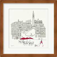 World Cafel IV - Venice Red Fine Art Print