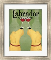 Two Labrador Wine Dogs Fine Art Print
