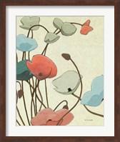 Blue Pavots Ondule II Fine Art Print