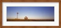 Farmhouse and Windmill in a Field, Illinois Fine Art Print