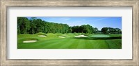 Sand traps in a golf course, River Run Golf Course, Berlin, Worcester County, Maryland, USA Fine Art Print