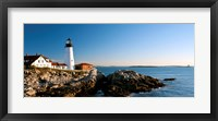 Lighthouse on the coast, Portland Head Lighthouse, Ram Island Ledge Light, Portland, Cumberland County, Maine, USA Fine Art Print