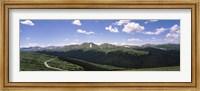 High angle view of a mountain range, Rocky Mountain National Park, Colorado, USA Fine Art Print