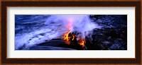 Lava flowing from a volcano, Kilauea, Hawaii Volcanoes National Park, Big Island, Hawaii, USA Fine Art Print