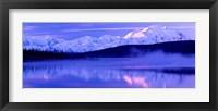 Reflection of snow covered mountains on water, Mt McKinley, Wonder Lake, Denali National Park, Alaska, USA Fine Art Print