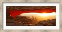 Mesa Arch at sunset, Canyonlands National Park, Utah, USA Fine Art Print