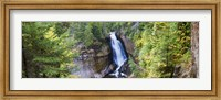 Waterfall in a forest, Miners Falls, Rocks National Lakeshore, Upper Peninsula, Michigan, USA Fine Art Print