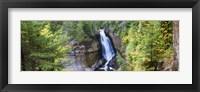 Waterfall in a forest, Miners Falls, Rocks National Lakeshore, Upper Peninsula, Michigan, USA Fine Art Print